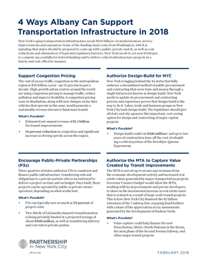 4 Ways Albany Can Support Transportation Infrastructure in 2018